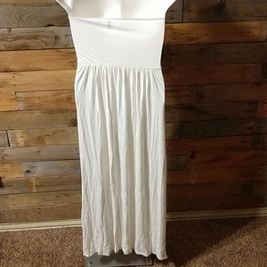 Rags and Couture Dresses - Woman's Strapless Ruched Maxi Dress - NEW